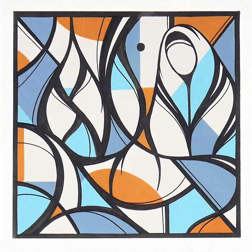 TILSITT GALLERY HAZUL LUZAH Aura P1 - acrylic on paper - 21