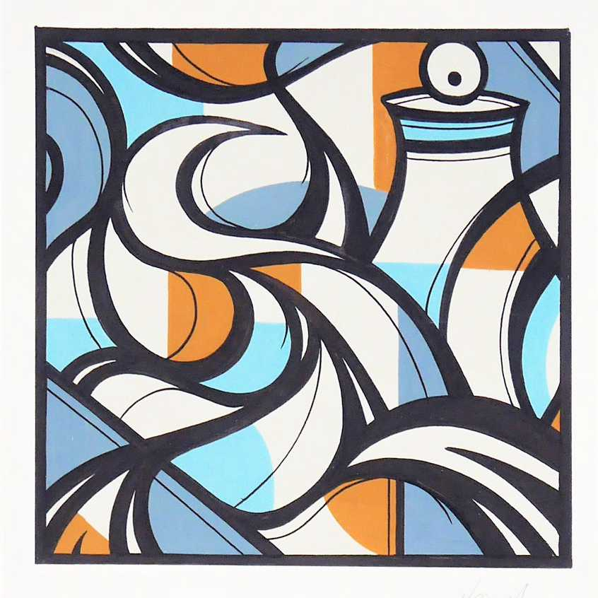 TILSITT GALLERY HAZUL LUZAH Aura P2 - acrylic on paper - 21