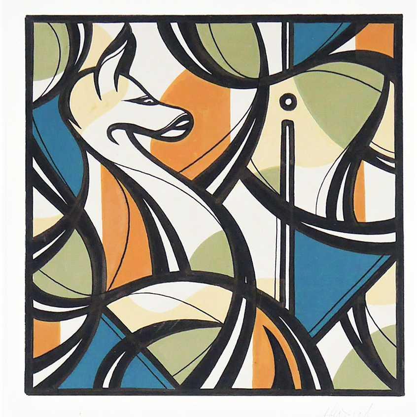 TILSITT GALLERY HAZUL LUZAH Aura P4 - acrylic on paper - 21
