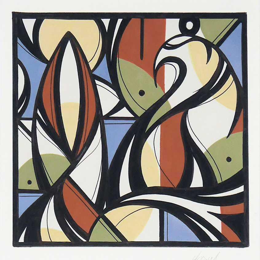 TILSITT GALLERY HAZUL LUZAH Aura P6 - acrylic on paper - 21