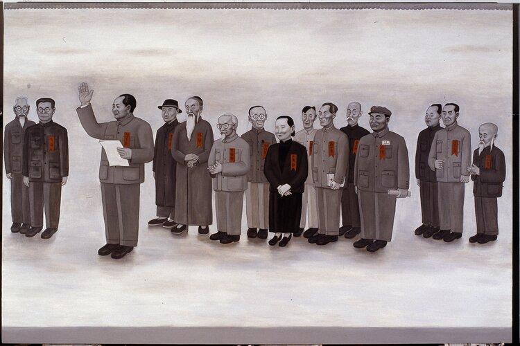 tilsitt gallery shen jingdong 2005-2006 Founding Ceremony 开国大典 (200cm x 700cm)