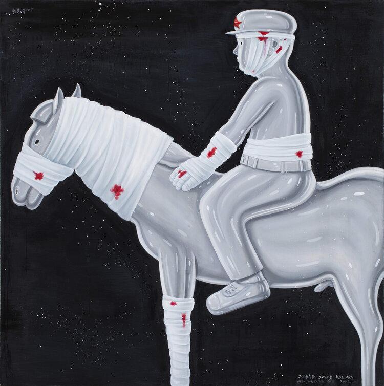 tilsitt gallery shen jingdong 2008 Commemorate Year 2005 纪念年 2005 (150cm x 150cm)
