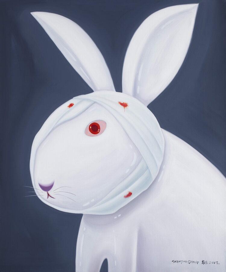 tilsitt gallery shen jingdong 2012 Rabbit 兔子 (100cm x 120cm)