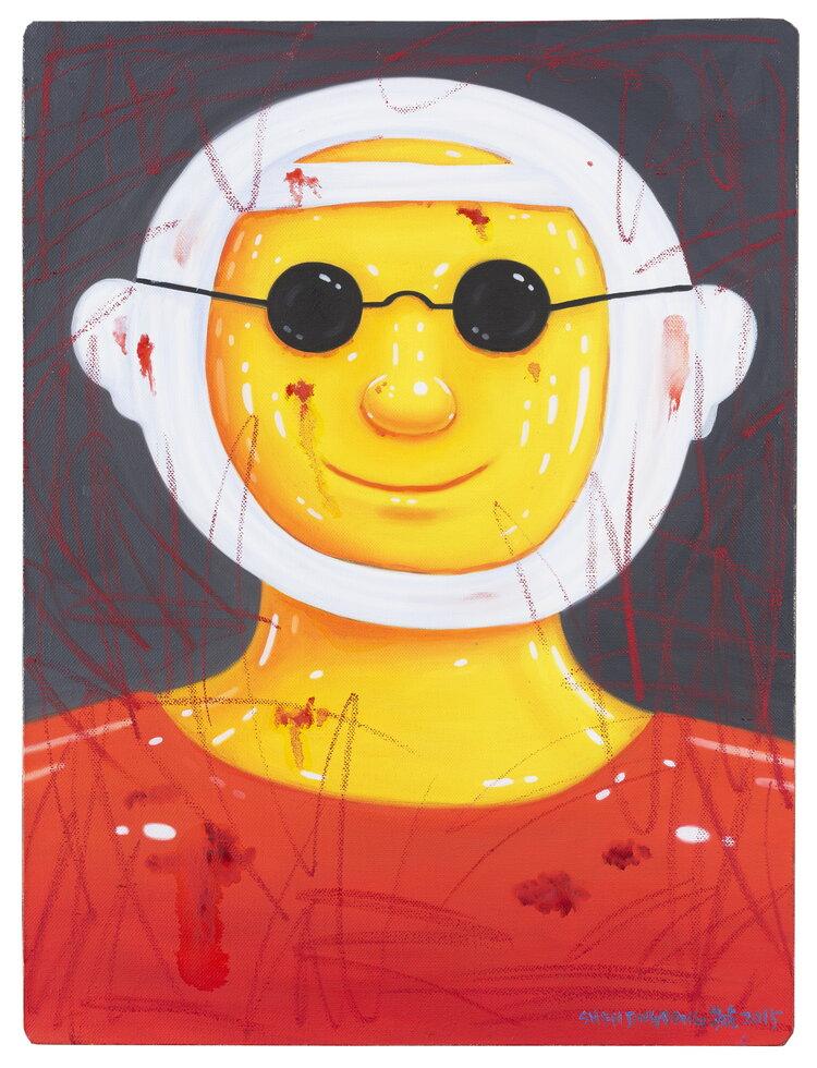 tilsitt gallery shen jingdong 2015 Man with Sunglasses 戴墨镜的人 (60cm x 80cm)