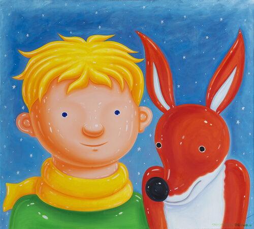 tilsitt gallery shen jingdong 2016 Little Prince and Little Fox 小王子与狐狸 (110cm x 100cm)