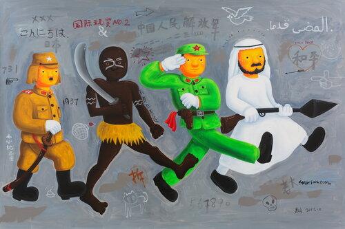 tilsitt gallery shen jingdong 2017 International Joke 2 国际玩笑之二 (200x300cm)