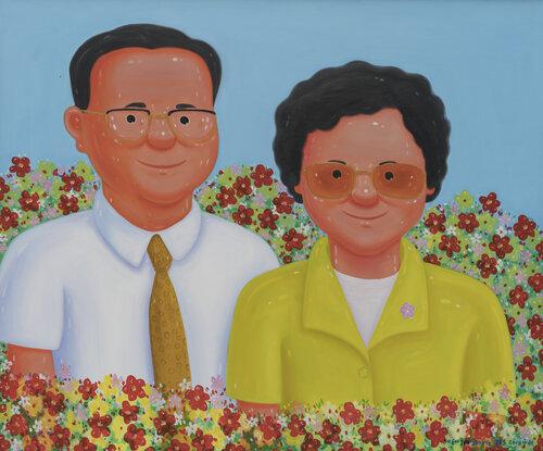 tilsitt gallery shen jingdong 2018 Li Peng Couple 李鹏夫妇 (100cm x 120cm)