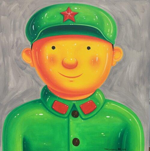 tilsitt gallery shen jingdong 2018 Little soldier 小兵 (150cm x 150cm)