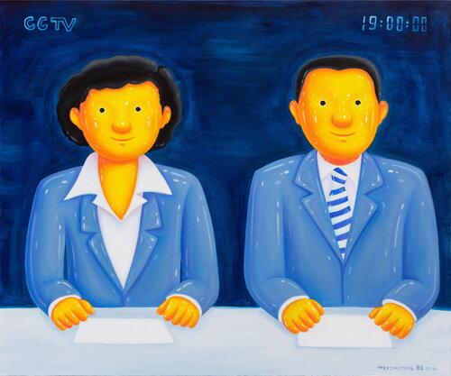 tilsitt gallery shen jingdong 2018 News 新闻联播 (100cm x 120cm)