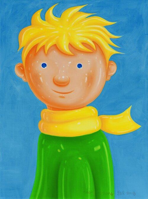 tilsitt gallery shen jingdong 2018 The Windward Little Prince 迎风小王子 (80cm x 60cm)