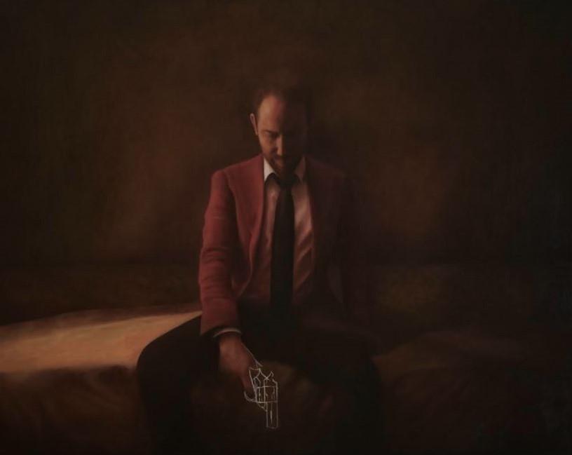 Tilsitt Gallery - Auto retrato II - Oil painting on canvas 110x140cm - Cris DK - Copie (2)